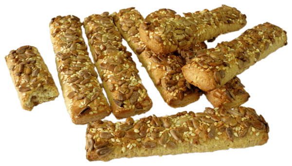 breadsticks coated with sesame & sunflower seeds κριτσίνια ...