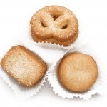 various shaped cookies pretzel coated with sugar μπισκότα κουλουράκι επικαλυμμένα με ζάχαρη