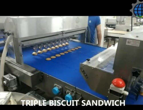 "Installation of automatic line for biscuits filling, sandwich capping and sprinkling, at company ""OVI & SARI"""