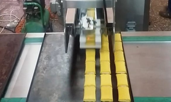 Machine for placing and aligning arranging products at baking trays – ALD DP200T